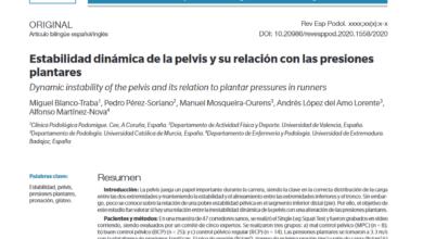 Photo of Publicación de nuestro estudio de investigación relacionando el pie y pelvis.